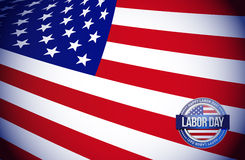 labor day flag sign illustration design graphic Stock Photos