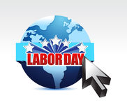 Labor day globe sign illustration Royalty Free Stock Image