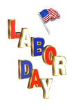 Labor Day graphic Stock Photography