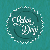 Labor Day Green Badge Label Stock Images