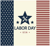 Labor Day. Greeting card or background. vector illustration royalty free illustration
