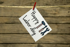 Labor day. Happy Labor day usa greeting card or background Royalty Free Stock Photos