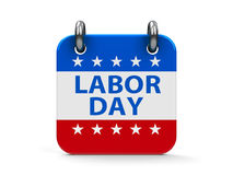 Labor day icon calendar. Labor day calendar icon as american flag, three-dimensional rendering stock illustration