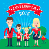 Labor Day invitation Royalty Free Stock Photo