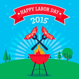 Labor Day invitation Royalty Free Stock Images