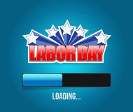 Labor day loading bar sign illustration Stock Images