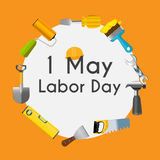 Labor Day 1 May Poster. Vector Illustration Stock Photo