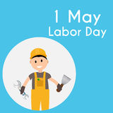 Labor Day 1 May Poster. Vector Illustration Stock Photography