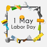 Labor Day 1 May Poster. Vector Illustration Stock Photos