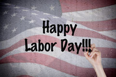 Labor Day. Message with american flag background Royalty Free Stock Photography