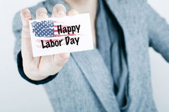 Labor Day. Message with american flag background Royalty Free Stock Images