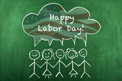 Labor Day. Message with american flag background Royalty Free Stock Photos