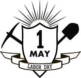 Labor day pick and shovel Stock Images