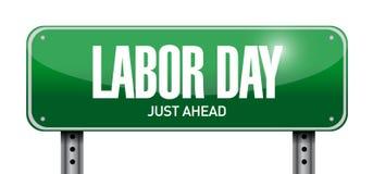 Labor day post sign illustration design Royalty Free Stock Image