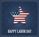 Labor Day poster on blue background Royalty Free Stock Images