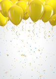 Labor Day. Poster design template with yellow balloons. Clipping path included Stock Image