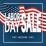 Labor Day poster sale Royalty Free Stock Image