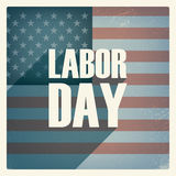 Labor day poster. Vintage grunge design. Patriotic Stock Image