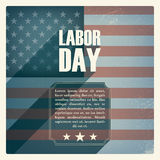 Labor day poster. Vintage grunge design. Patriotic Royalty Free Stock Images