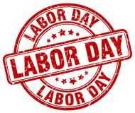 Labor day red stamp. Labor day red grunge round stamp isolated on white background stock illustration