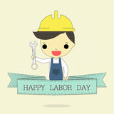 Labor day and ribbon Royalty Free Stock Photos