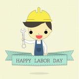 Labor day and ribbon Royalty Free Stock Photos