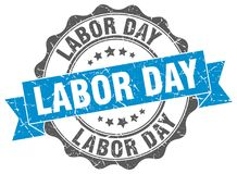 Labor day seal. stamp. Labor day round seal isolated on white background. labor day royalty free illustration