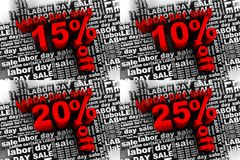 Labor day sale 1. Conceptual banner for the labor day sale Royalty Free Stock Photo