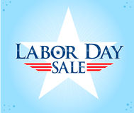 Labor Day Sale. With star Stock Photo
