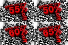 labor day sale 3 Stock Photos