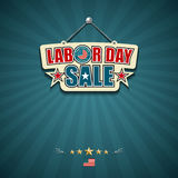 Labor day sale American signs stock illustration