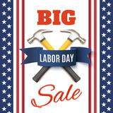 Labor Day sale background template. Royalty Free Stock Image