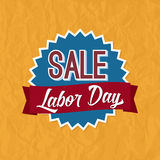 Labor Day Sale Badge Label Stock Photo