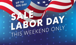 Labor Day sale banner. This weekend only. Vector. Royalty Free Stock Photo