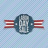 Labor Day Sale festive Emblem Stock Photos