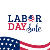 Labor Day Sale hand lettering vector background. Holiday discount card   Royalty Free Stock Photos