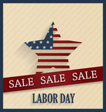 Labor Day sale poster with ribbon Royalty Free Stock Photography