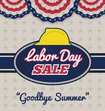 Labor day sale promotion advertising badge labels Royalty Free Stock Image