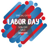 Labor day sale promotion advertising banner  with color of Ameri Stock Photos