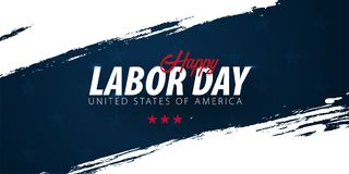 Labor Day sale promotion, advertising, poster, banner, template with American flag. American labor day wallpaper. Voucher discount.  royalty free illustration