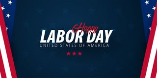 Labor Day sale promotion, advertising, poster, banner, template with American flag. American labor day wallpaper. Voucher discount.  vector illustration