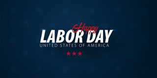 Labor Day sale promotion, advertising, poster, banner, template with American flag. American labor day wallpaper. Voucher discount.  stock illustration