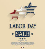 Labor Day sale. Red, white and blue stars Stock Image