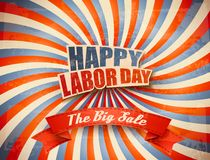 Labor Day Sale Retro Background. Stock Photos