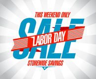 Labor day sale retro design. Stock Image