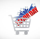 Labor day sale shopping cart sign Royalty Free Stock Photo