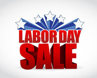 labor day sale sign illustration design Royalty Free Stock Photos