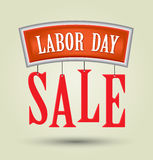 Labor day sale text. Stock Image
