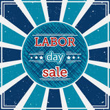 Labor day sale. Typography poster on grunge background. Royalty Free Stock Photography