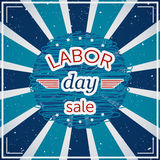 Labor day sale. Typography poster on grunge background. Stock Images